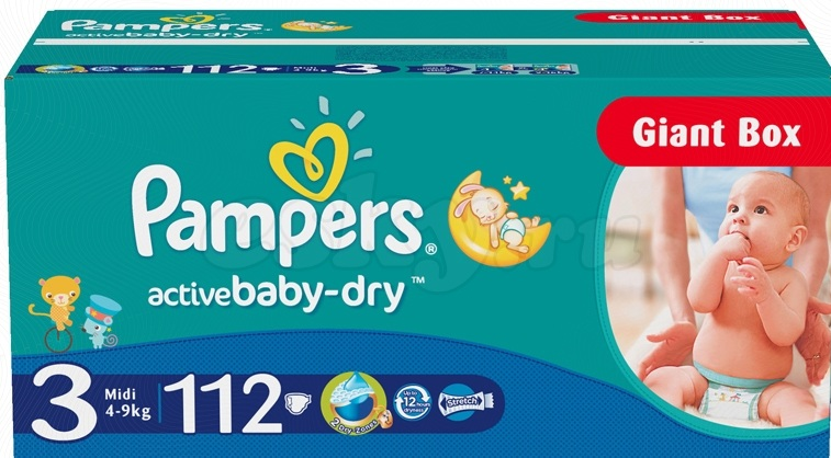 Pampers Active Baby № 3, 4