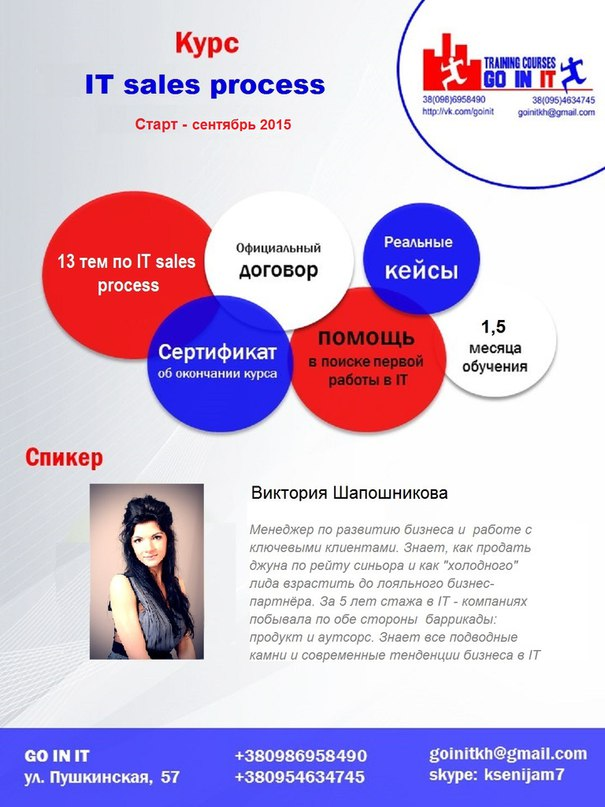 Первый тренинг  IT Sales Level Up: Create the Flow and Win More Deals