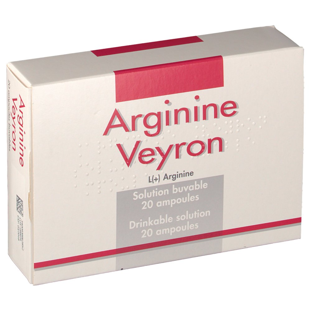 В наличии | Arginine Veyron 20 Amp 5 ml (Pierre Fabre, France) / Аргинин (Цитраргинин) 20 ампул по 5 мл.